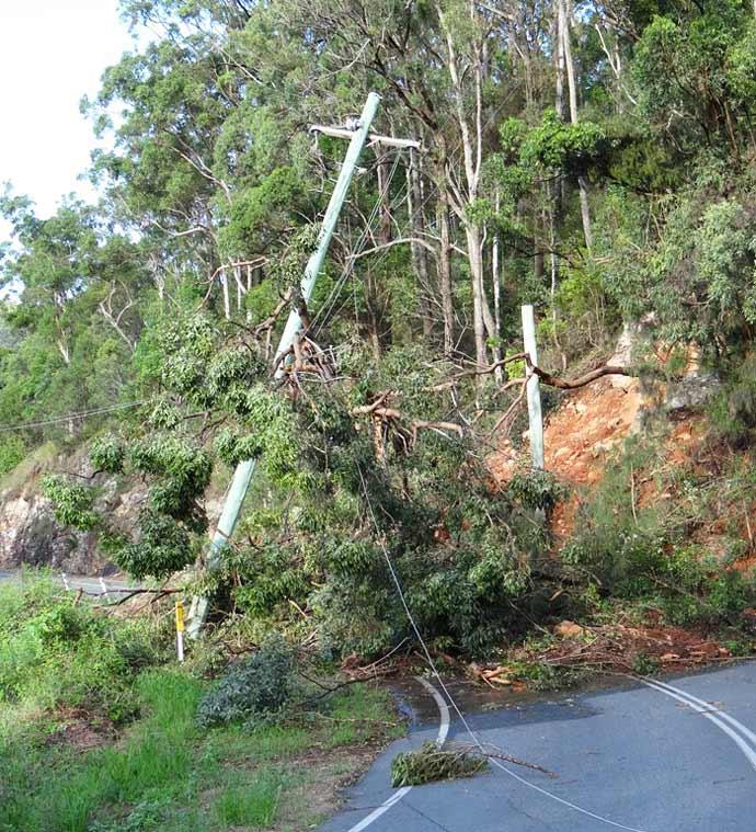 Landslide Beechmont Road, Beechmont
