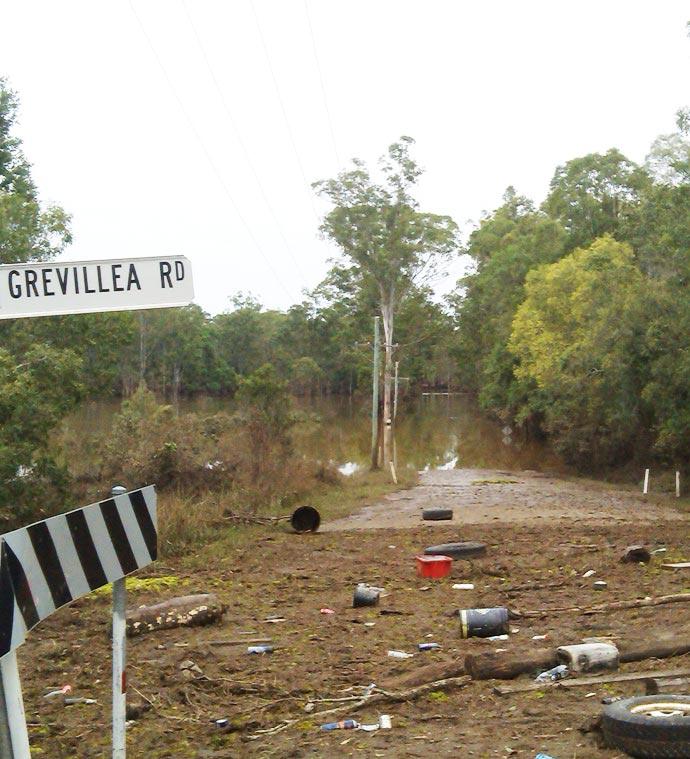 Flooding Chambers Flat Road, Loganlea