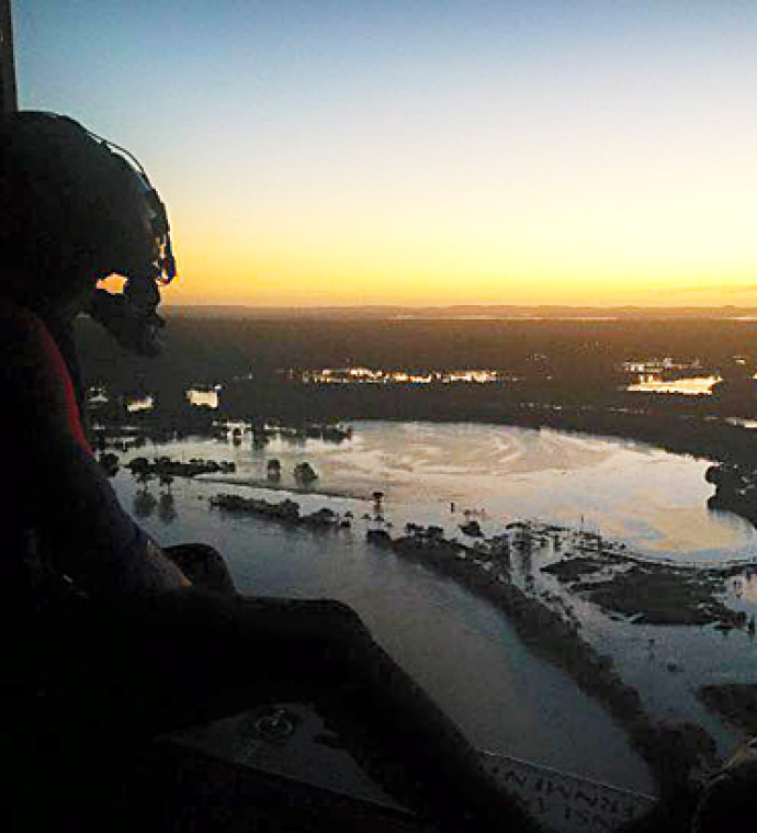 Thanks to Carmen Waqanaceva for this helicopter view of flooding in Logan