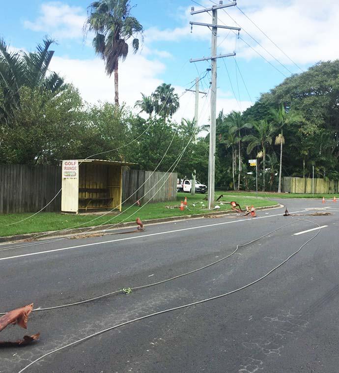 Fallen powerlines Sunshine Coast